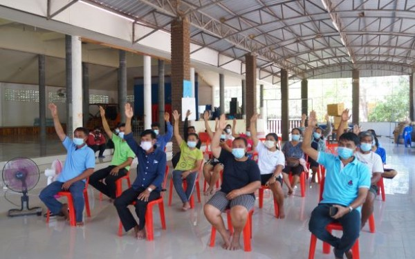 ประชุมประชาคมหมู่บ้าน เพื่อทบทวน/จัดทำแผนพัฒนาท้องถิ่น (พ.ศ.2566-2570) ขององค์การบริหารส่วนตำบลห้วยยั้ง หมู่ 6 บ้านลานช้างท่าว
