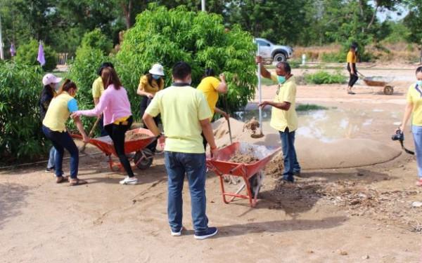 ร่วมก่อสร้างสนามเด็กเล็กสร้างปัญญา ศพด.บ้านคลองห้วยยั้ง
